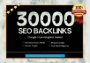 create 30000 backlinks to your domain for Google Ranking