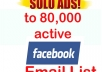 solo add your service to 80,000 facebook active list