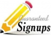 provide 20 GUARANTEED signups