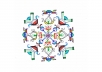 draw a custom pen and ink kaleidoscopic snowflake by hand