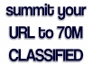 submit your website to 70million classified ad