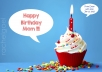 create a birthday POSTER with the text you want