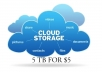 provide you 5 TB Cloud storage for one year