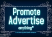 promote your Product Across my PR1 Marketing Blog and 62000 Twitter Followers