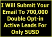 submit Your Email To 700,000 Double Opt In Active Leads