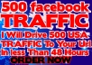 Drive 500 Quality Usa Facebook TRAFFIC To Your Url In Less Than 48 Hours