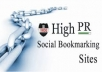add 40 authority backLINKS MANUALly from Social BOOKMARKING sites of pr5 plus