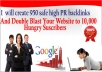 create 950 safe high PR backlinks within 24 hours with bonus