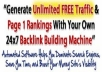 Create 5000 BACKLINKS Seo For You In Your Website A also send 5000 Real Traffics