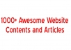 give you my 1000 plus AWESOME articles and contents Collections
