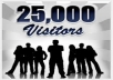 give you 25000 USA visitors