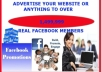 advertise Your Website Or Anything To Over 1,499,999 REAL Facebook Members