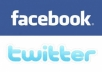 tweet your website or massage to 400000 Facebook Fans and 300000 twitter followers for traffic