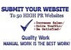 manually submit your website url to 50 High Rank Websites