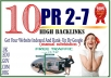 get You 10 High PR Backlinks Manually