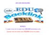 add 300 .EDU backlinks to your site