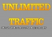 send UNLIMITED real traffic to your website for 30 Days