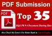 manually Submit Any Article in Top 35 doc and PDF Submission sites High pr 9to4