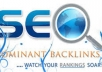 create 500 backlinks plus pinging Within 24Hours
