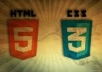 work  html and css for your website design