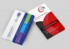 design professional and modern business card