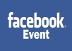 create a Facebook Event to promote anything you want and invite 100 active, real, US friends