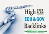 provide 50 Unique  backlinks from Edu and Gov sites
