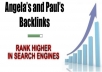 manually create 50 Angela paul backlinks PR9-PR5
