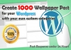 create categorized 1000 Wordpress wallpaper post