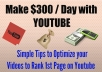 show you some Secret Tips to Make 9,000 dollars per Month with YouTube