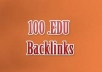 I will create more than 100 EDU nofollow backlinks using blog comments to any website or url in max 2 days ! This is very safe for Google since Edu Backlinks act like pure GOLD !  Google like them and increase your website ranking and you get better position in Google search engine !!!  You may provide unlimited urls and unlimited keywords !  You'll receive a FULL REPORT with all the blog pages that have your link.  Buy 4 orders TODAY and you get 1 order for FREE !  DELIVERY in max 48 HOURS !!!