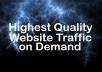 send 100,000 Guaranteed Targeted Website Visitors In 30 Days