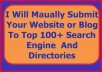 Manually Submit Your Site or Blog to 100+ Top Search Engines and Directories