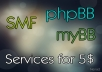 install and config phpBB, SMF or MyBB with a Style and Mods