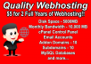 host your website for two years
