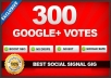 give Real & Permanent Phone Verified USA 300+ Google Plus Votes To Your Website URL
