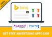 give you a Bing Ads coupon