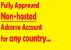 create fully approved Non-hosted adsense account