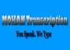 Transcribe 15 mins of audio files