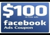 give method for 100 usd facebook coupons