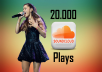 give you 20000 high quality soundcloud plays