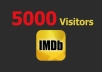 provide 5,000 Visitors to Your IMDB page