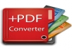do all your PDF conversion work