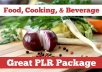 Need content for your food and wine blog or website? Want to create recipe or cooking ebooks?  Enjoy this package of over 6000 Private Label Rights (PLR) articles covering Food & Wine topics including: Food, Wine, Alcohol, Beer, Coffee, Recipes, Holiday Cooking, Gourmet, International Cuisine, Tea, Kitchen Gadgets, and more! These articles are ready for you to rewrite, spin, package as ebooks, anything you want. As a special bonus, I will send you a package of royalty-free stock photos of food and cooking to illustrate your project.  Message me for free sample articles. Files will be delivered as compressed zip files, a strong internet connection is recommended for downloading.
