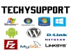 give tech support for hardware and software