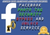 bypass photo tagging checkpoint and unlock facebook account