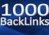 will build 1000 Anchor Backlinks to Your Blog or Websites from 1000 unique domains to push you to the top of the search engines