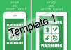 ios mockup screenshot template ready for appstore