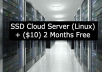 Create SSD Cloud Server + 2 months free