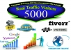 send 5,000 real visitors to your site